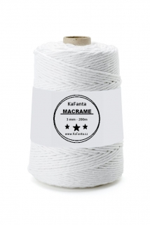 Macrame příze PREMIUM 3mm/200m - artic white
