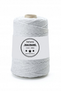 Macrame příze PREMIUM 3mm/200m - moon light
